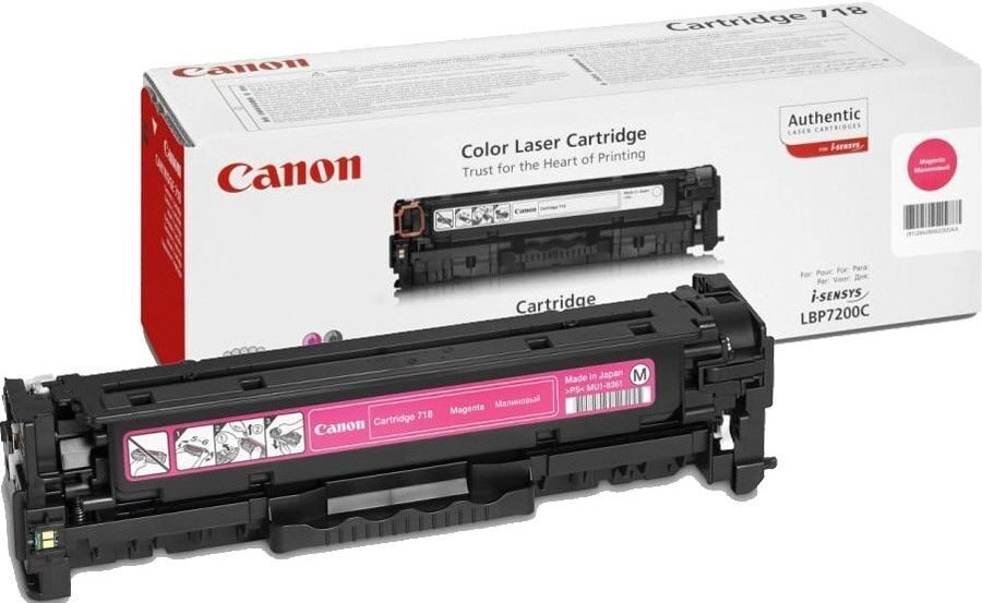 Cartridge 718M пурпурный 2660B002 Magenta Canon картридж...